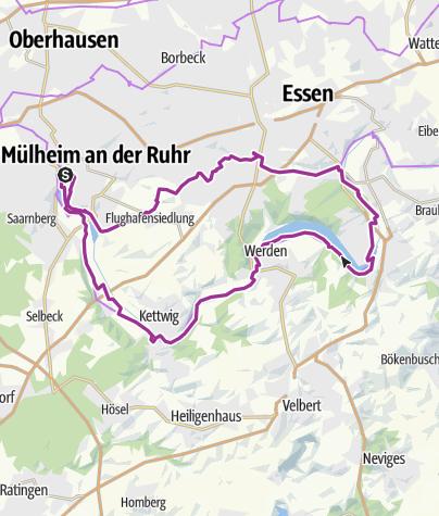 Karte Ruhrgebiet.Radeltour Durchs Ruhrgebiet Von Mülheim Durch Essen Werden Und
