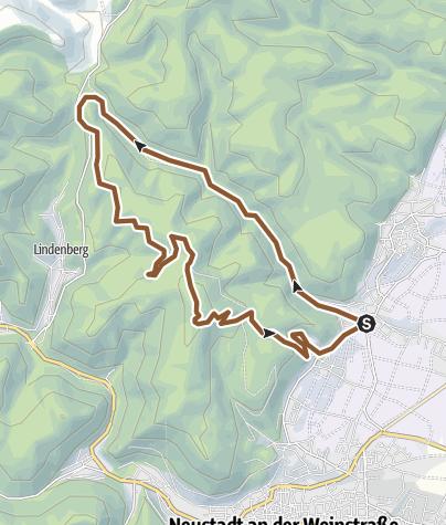 Mapa / Gimmeldingen - Benjetal/Silbertal - Weinbiet