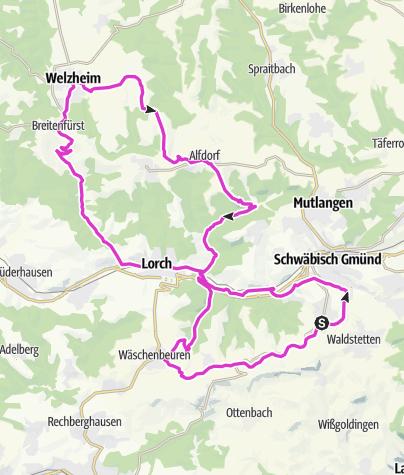Karte / Straßdorf - Welzheim Straßdorf