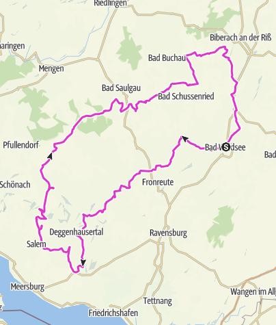 Karte / Bad Waldsee-Höchsten-Gehrenberg-Heiligenberg