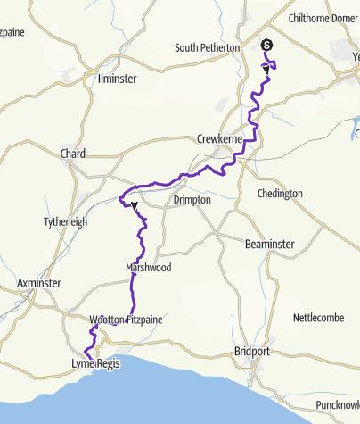 Map / Ham to Lyme via Liberty Trail