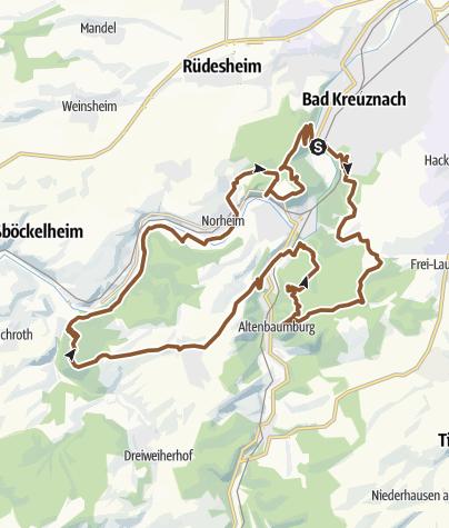 Karte / Bad Kreuznach - 3 Berge Tour