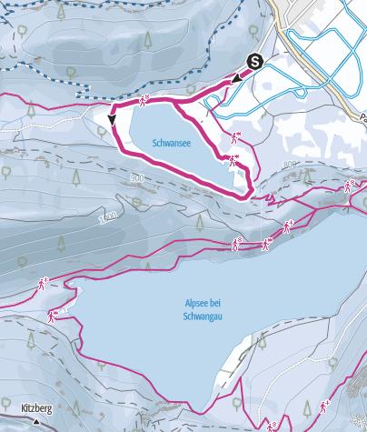 Karte / Königlich rund um den Schwansee in Schwangau