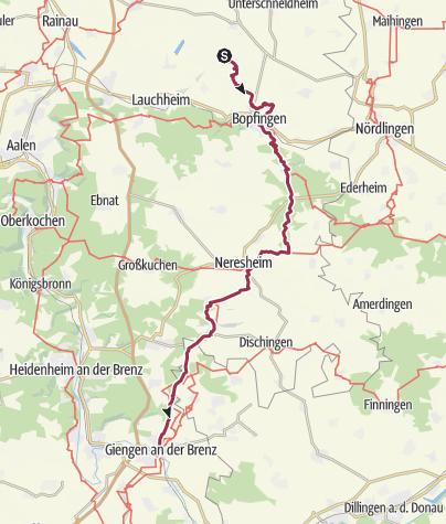 Ostalbkreis Karte.überquerung Der Ostalb In Zwei Bis Drei Tagen Wanderung