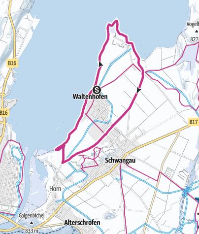Karte / Versunkene Welt im Forggensee