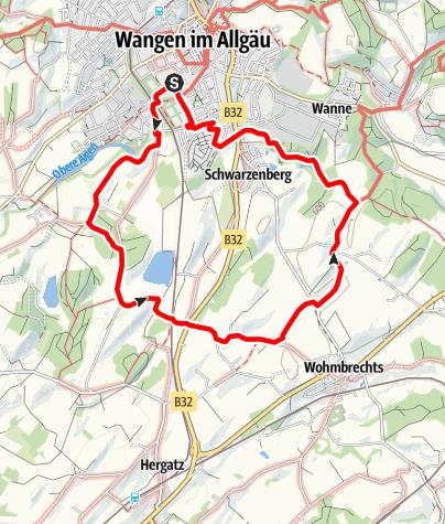 Karte / Wangen - Über Herzmanns, Schreckelberg und Engelitz in den Artzenberger Wald