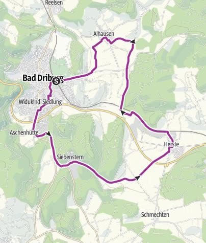 Karte / Bad Driburger Radrouten, Tour 5