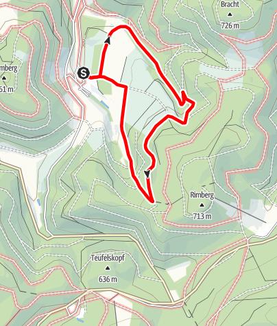 Karte / Rundweg um Oberrarbach (OR4)