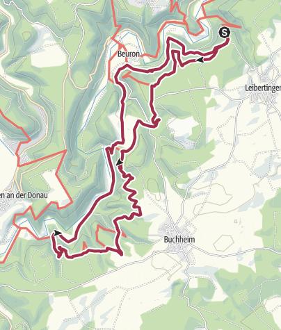Karte / Von der Burg Wildenstein zu Schloss Bronnen und Ruine Kallenberg