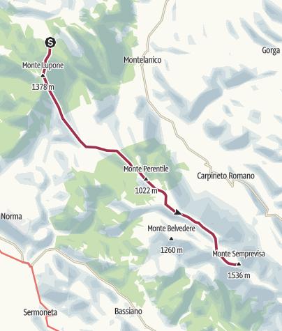 Map / Monte Lupone - Monte Semprevisa