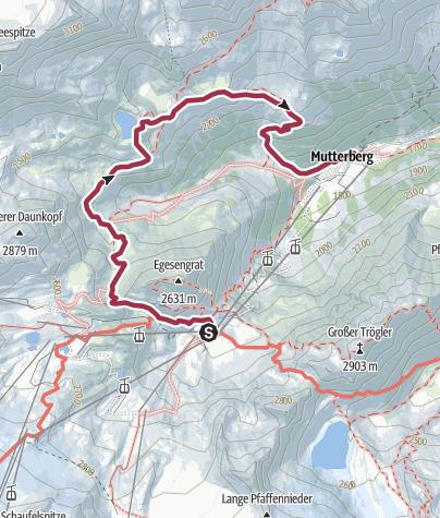Karte / Mutterbergalm - Mutterberger See