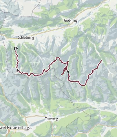 Carte / Schladminger-Tauern Höhenweg | 7-Tages-Tour