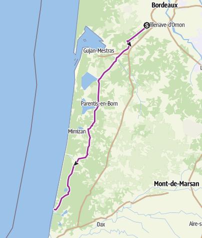 Map / Pessac Vx Bouc optimisé vélo