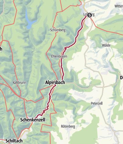 Karte / Kinzigtal - Kinzigtäler Jakobusweg , 1. Etappe