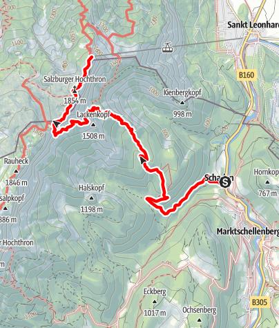 Karte / Schellenberger Eishöhle - Untersberg