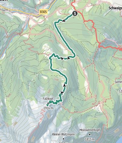 Karte / Watzmannhaus