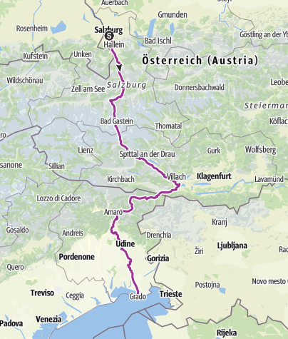 Map / Ciclovia Alpe-Adria Radweg