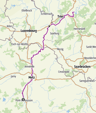 Map / Moselradweg aus Wiki on GPSies.com section 2