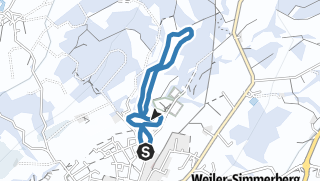 Karte / Weiler-Simmerberg R22 Freibad-Loipe