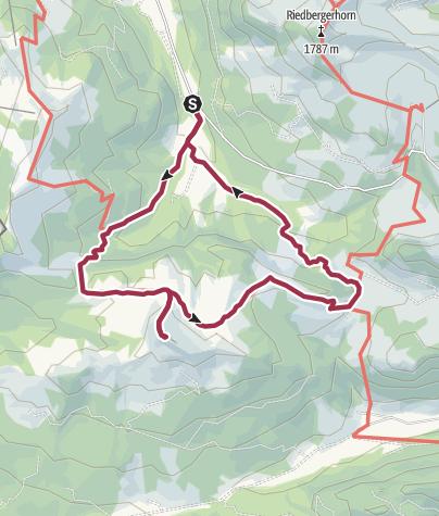 Karte / Alpwanderung von Balderschwang über den Piesenkopf