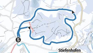 Karte / Stiefenhofen R17 Burgstall-Loipe