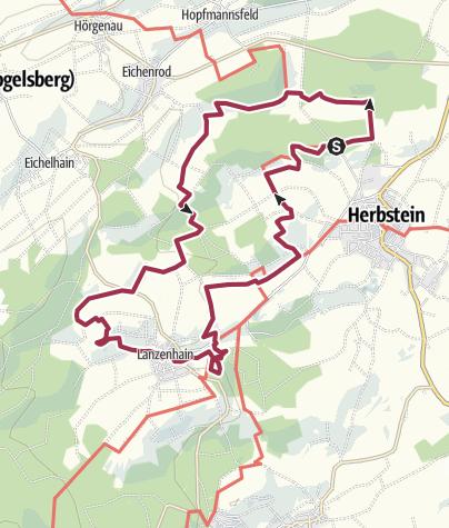 Karte / Felsentour Herbstein
