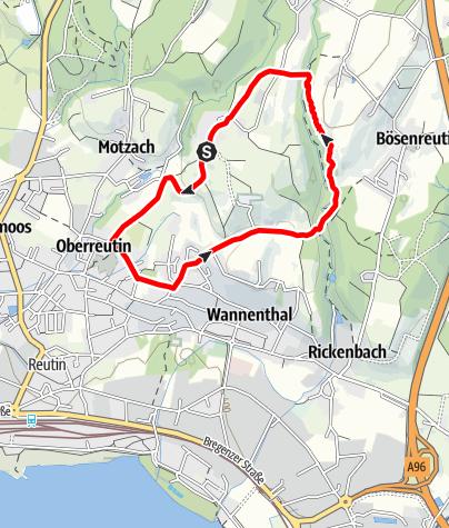 Karte / Lindau R9 Streitelsfinger Runde