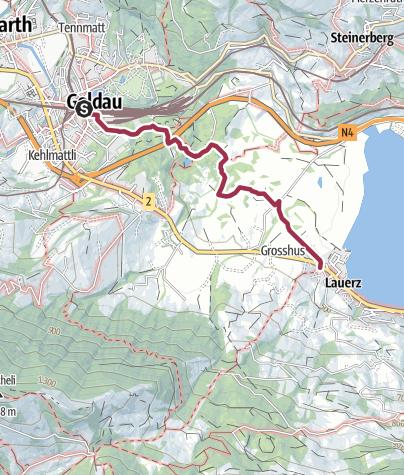 Karte / Bergsturzspur 1