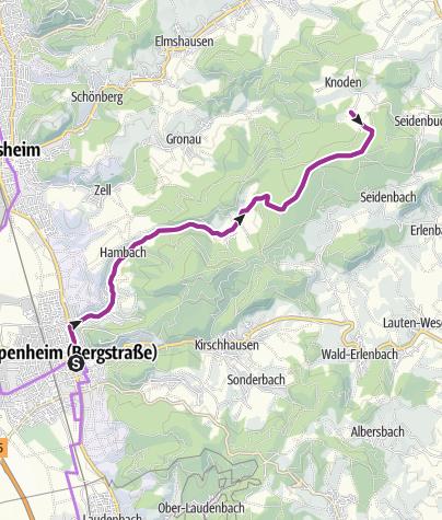 Karte / Von Heppenheim nach Schannenbach und zurück