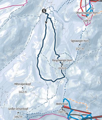 Karte / Von Gunzesried auf das Rangiswanger Horn