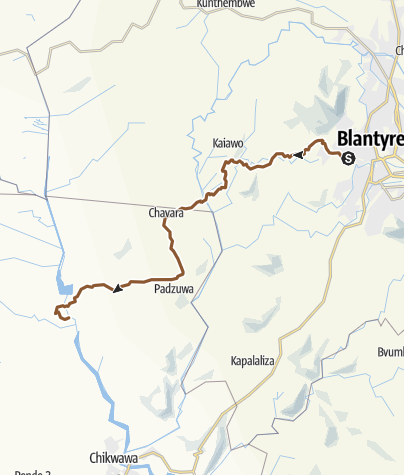 Map / Blantyre to Ngona mountain bike