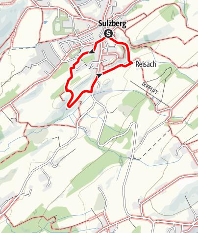 Karte /  8 - Zur Burgruine Sulzberg