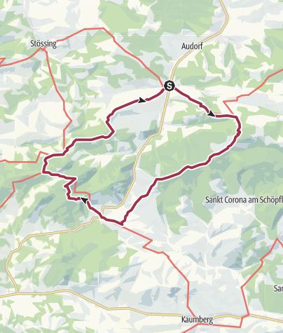Karte / Schöpfl und Gföhlberg