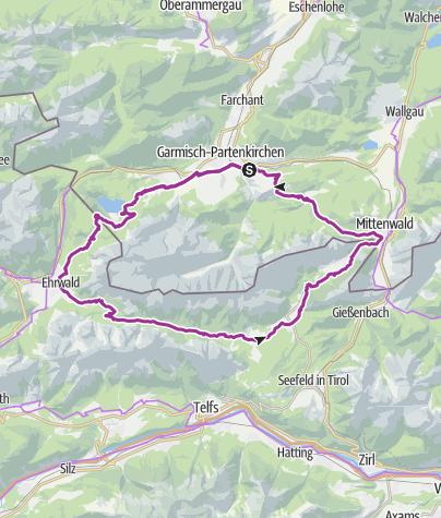 Karte / Rund um das Wettersteingebirge