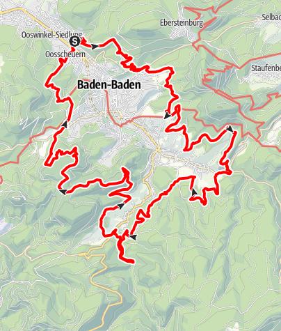 Map / Panoramaweg Baden-Baden (Premiumweg)