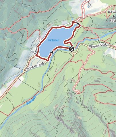 Karte / Prinzregent Luitpold Weg: Rund um den Hintersee