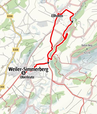 Karte / Weiler-Simmerberg R11 Simmerberg - Ellhofen