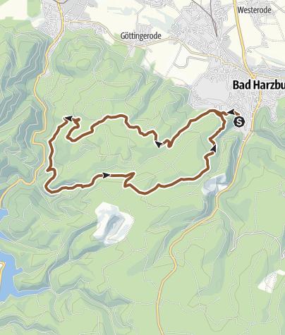 Karte / Kästeklippen-Okertal-Tour um Bad Harzburg