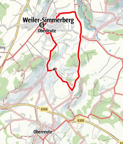 Karte / Weiler-Simmerberg R9 Nagelshub - Ihlingshof