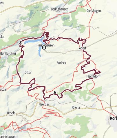 Karte / Diemelsteig