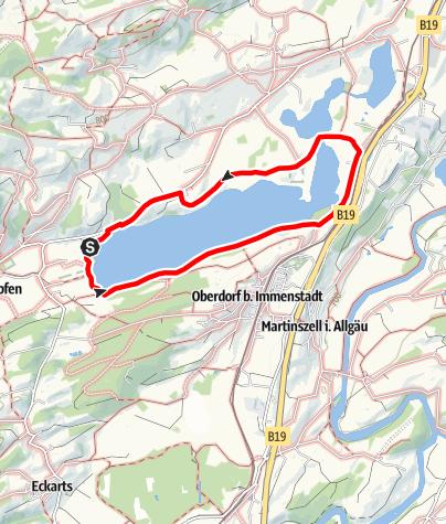 Karte / Rund um den Niedersonthofener See (Kräuterwanderweg)