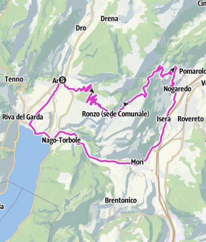Cartina / Monte Velo- Passo s. Barbara - Passo Bordala
