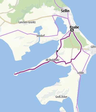 Karte / Zum Reddevitzer Höft auf Rügen