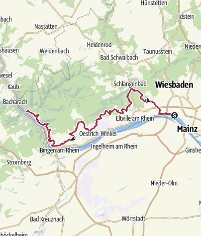 Wiesbaden Karte.Rheinsteig In Hessen Wiesbaden Bis Lorch Wanderung
