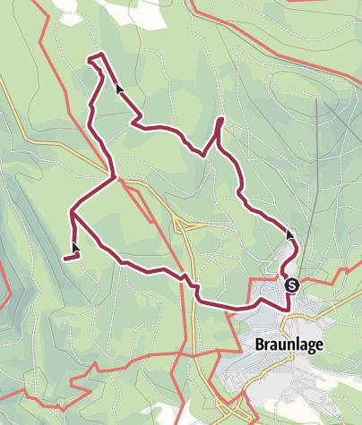 Karte / Braunlager Aussichtsrunde