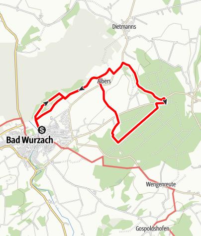 Karte / Bad Wurzach - Vom Ried ins schöne Röthelenbachtal und durch den Stadtwald