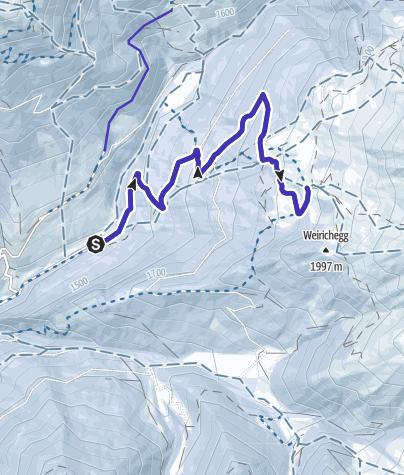 Karte / Mit dem Rodel am Schranzberg bei Matrei im Navistal