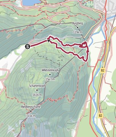 Karte / Die Leutascher Geisterklamm