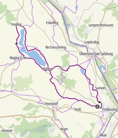 Karte / Badeseen-Radweg mit Waginger See Rundweg