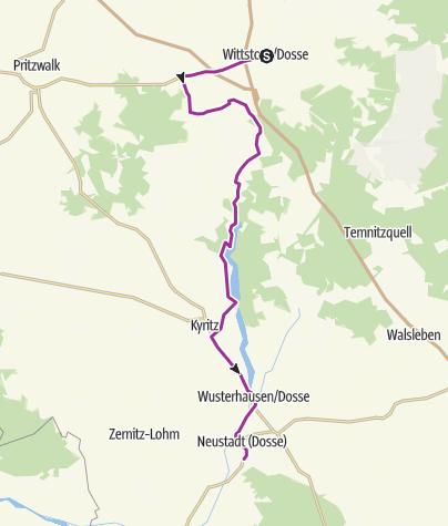 Karte / Dosse-Städte-Tour
